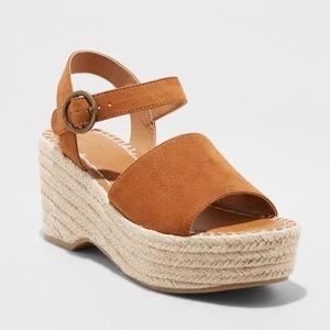 Womens Brown Morgan Espadrille Wedge Sandals